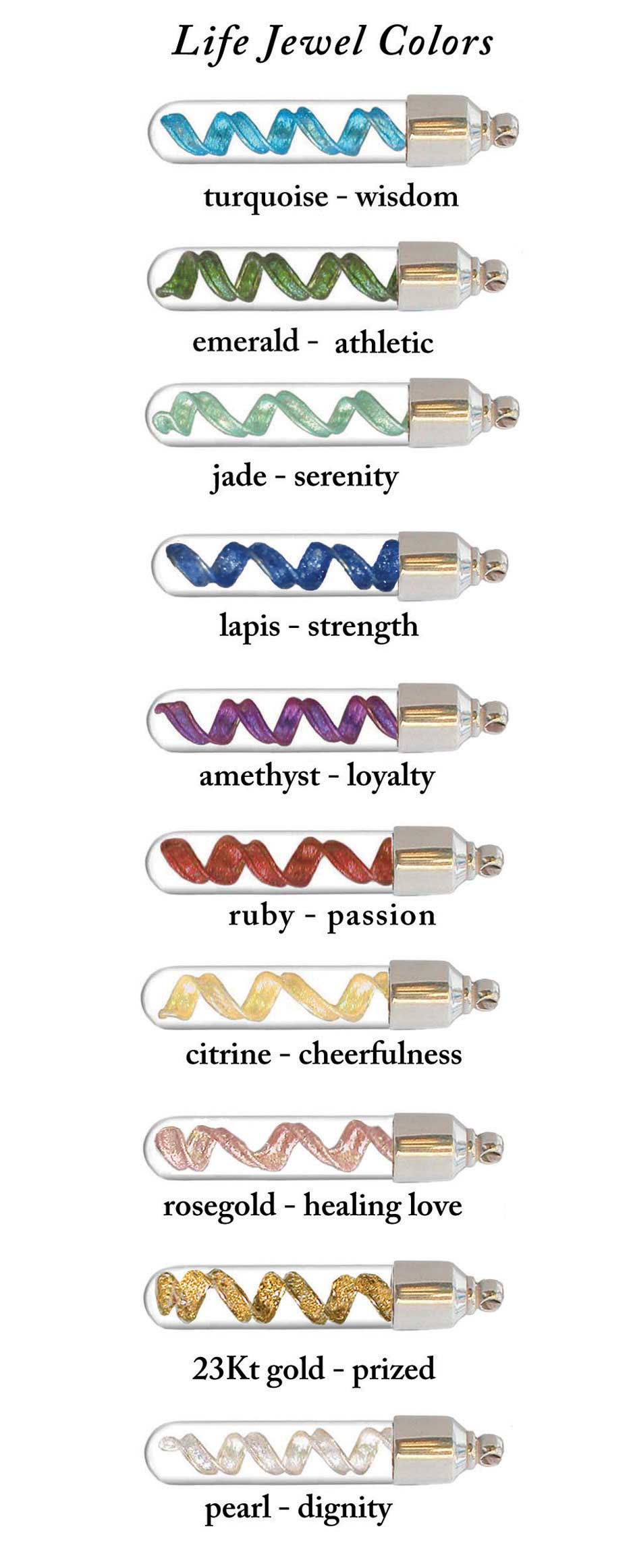 Life Jewel™ DNA Color Choices